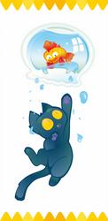 Cat Fish Bowl by Kna