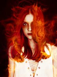 Girl on Fire Colorization by AbhorsenBranwen