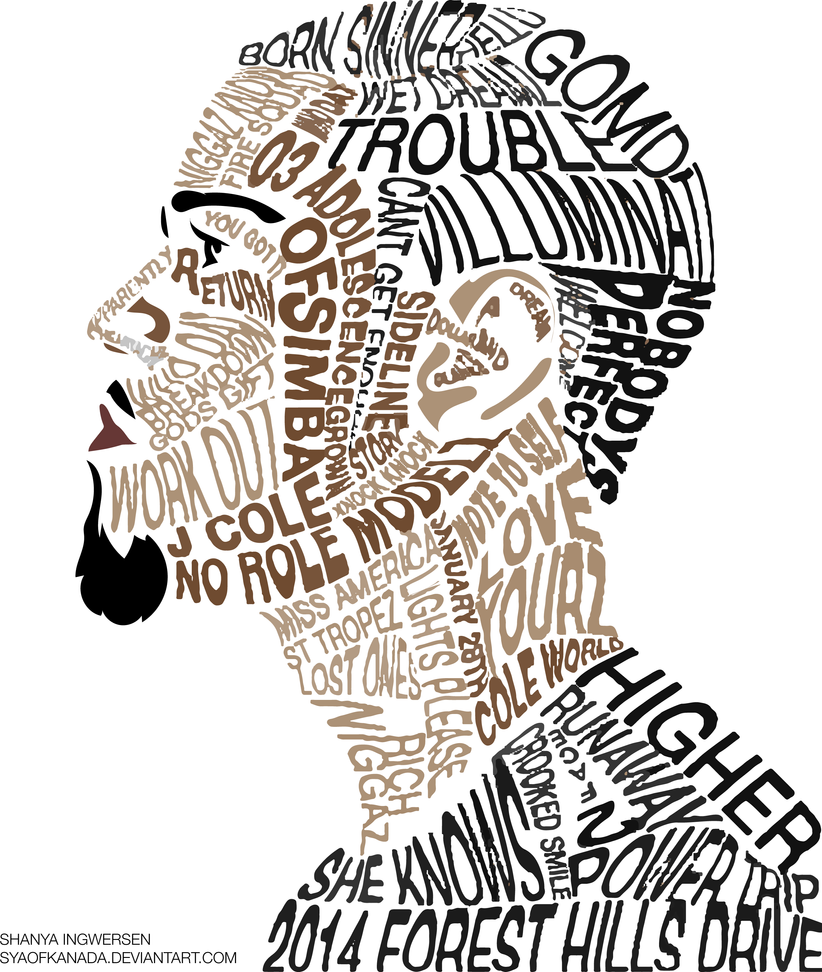 Note To Self J Cole Typographic Art By Syaofkanada On