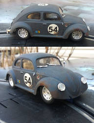 VW Beetle Slot Car 1/32 2 views by FesterBZombie