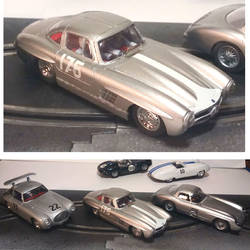 MB Gullwing slot car by FesterBZombie