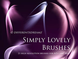 SIMPLY LOVELY BRUSHES by illustratorcs6