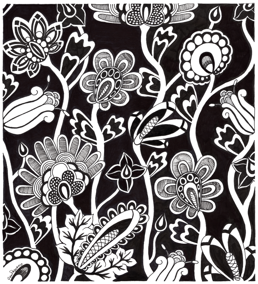 Deco flowers by wytwolf on deviantart for Art deco flowers