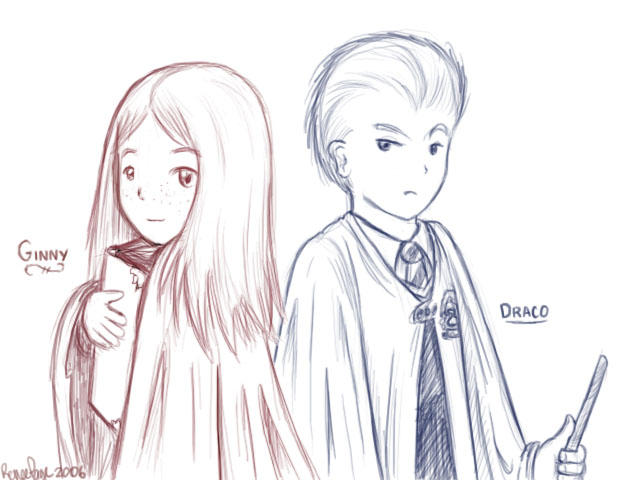 Ginny and Draco - Harry Potter by wytwolf on DeviantArt