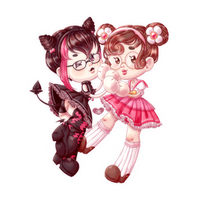 Sticker Cheeb Couple by Snow-Songstress