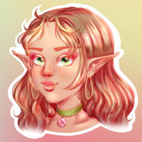 Sketch Bust by Snow-Songstress