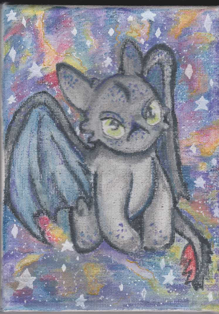 Galaxy Toothless by animenyancat
