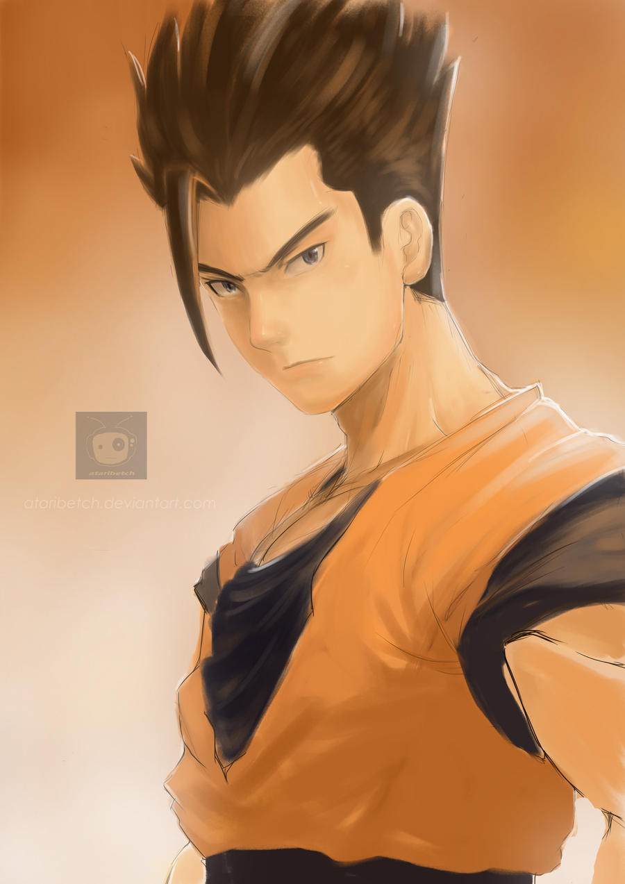 Gohan fan art by AtariBetch