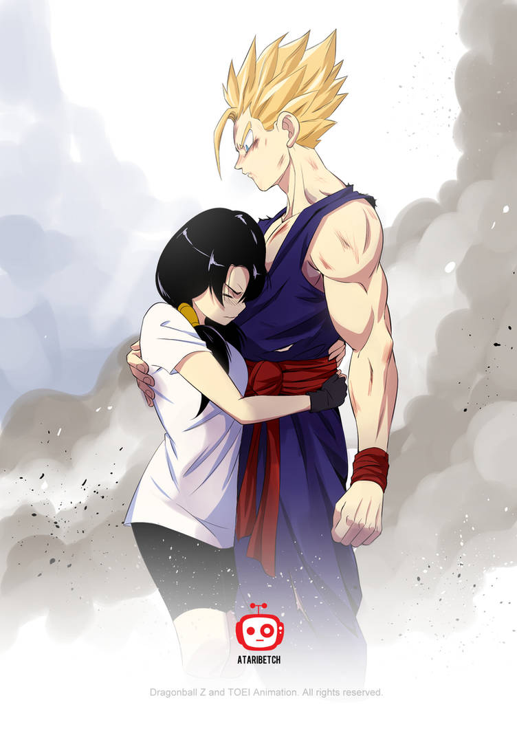 the first embrace_DBZ Fan art