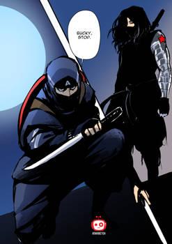 Captain America x Winter Soldier shinobi fan art