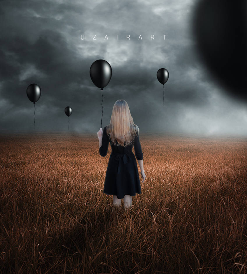 The Dark Balloon and Girl