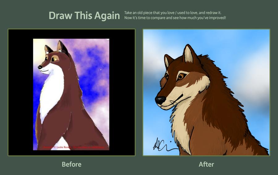 Draw This Again - Wolfie by Lyrak