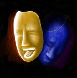 My mask of Sanity by ceramicskull