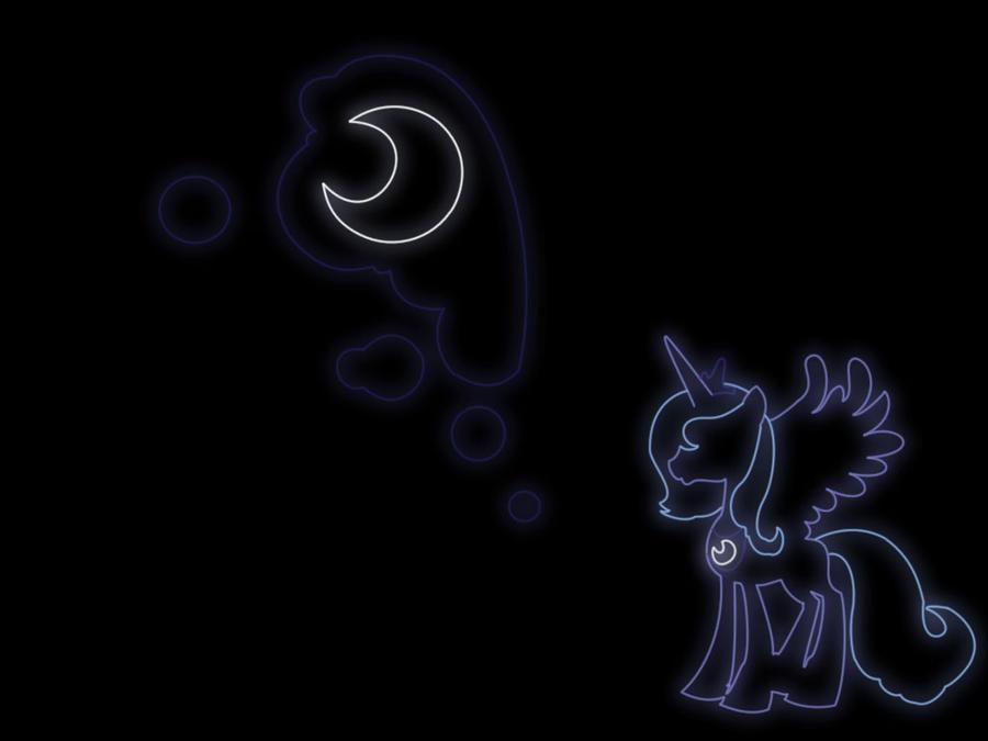 princess luna neon wallpaper by fx20 on deviantart