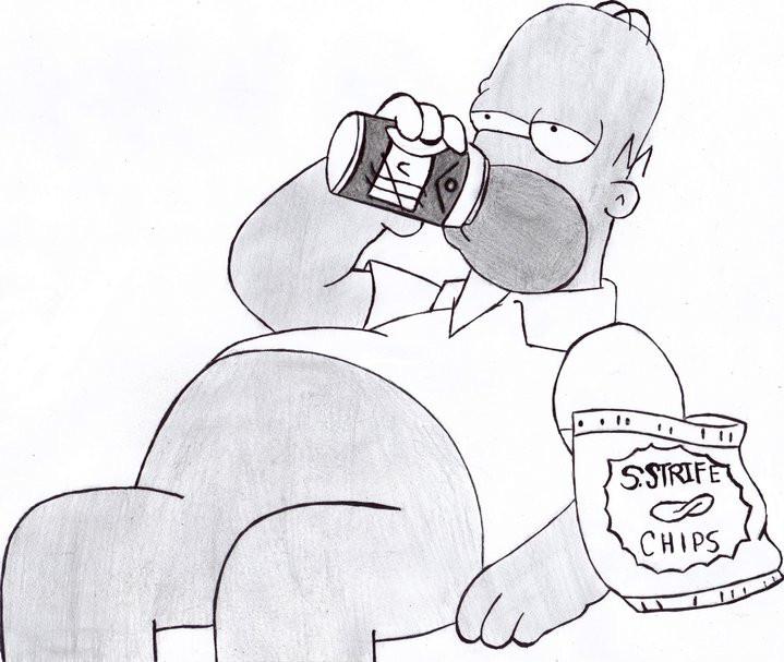 Homer simpson by hachirota on deviantart - Dessin homer simpson ...