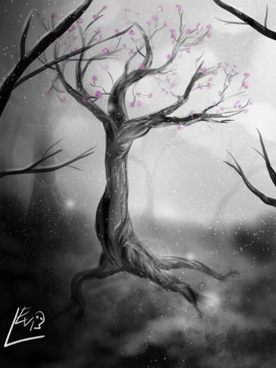 Sakura Tree by Leviathena