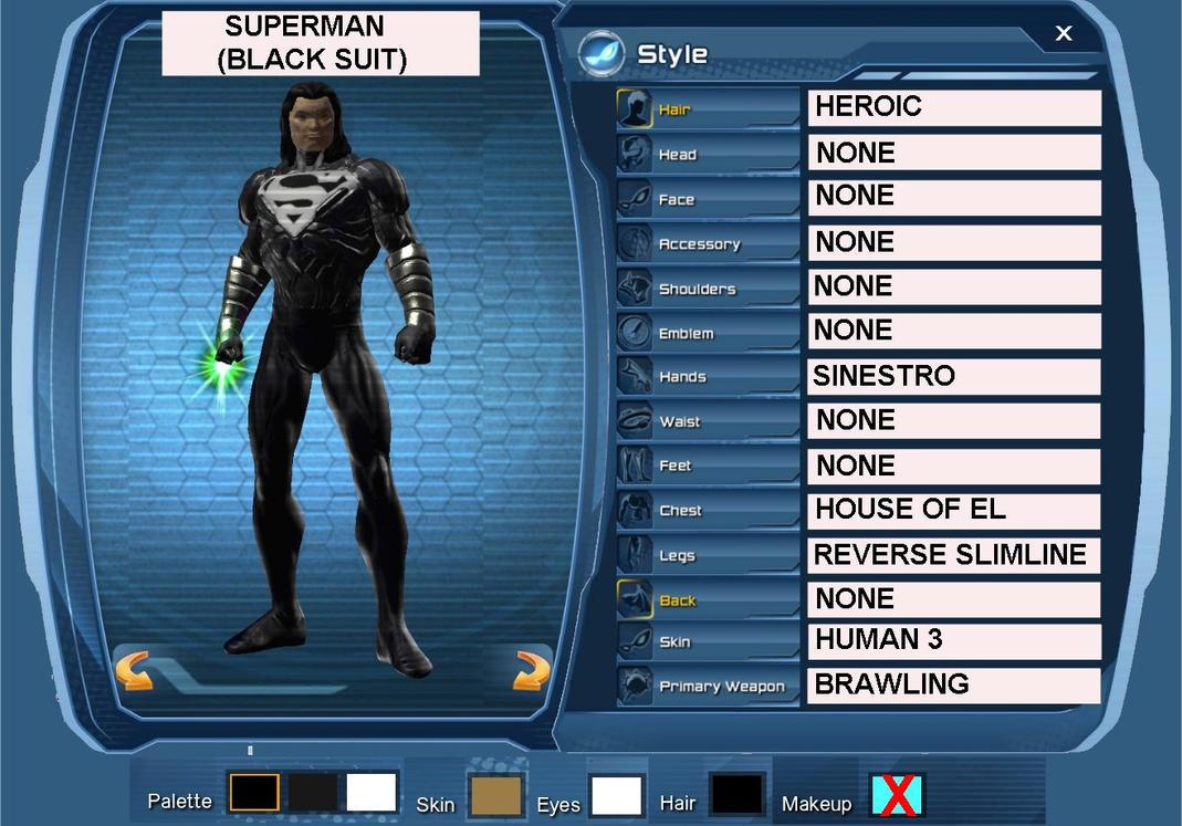 Black Suit Superman Superman Black Suit by