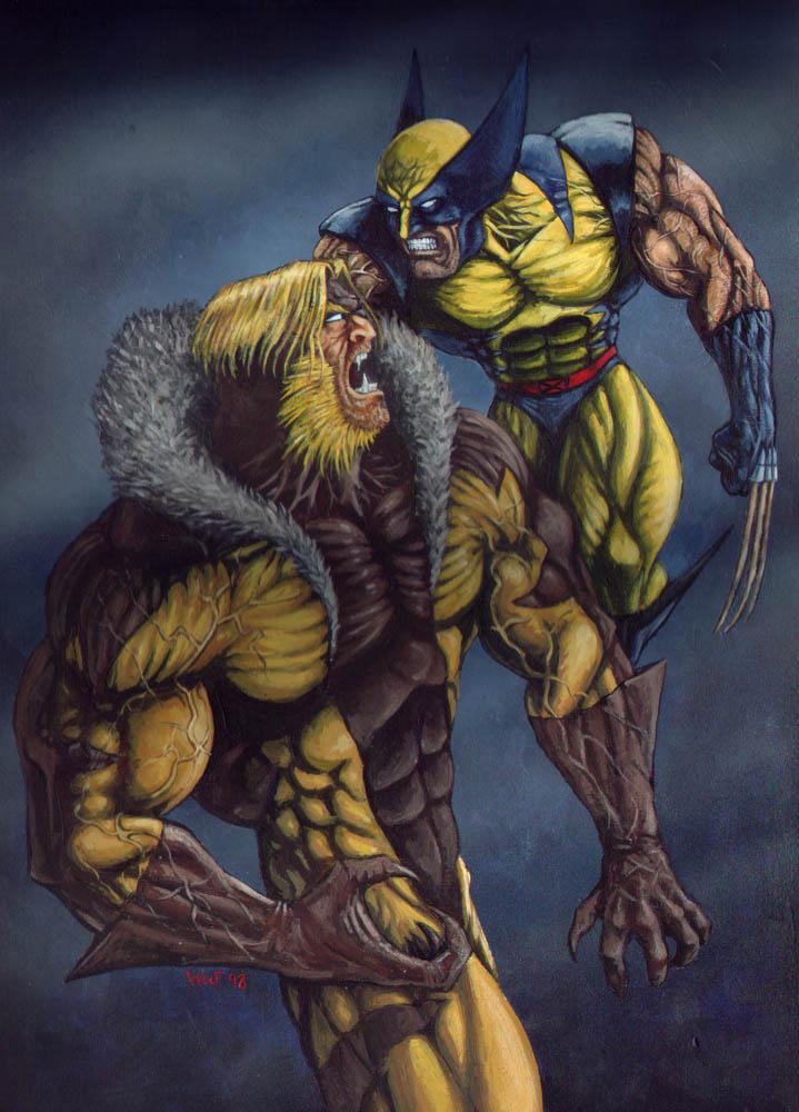 e828580e146 Wolverine Vs Sabretooth by FenrizWolf on DeviantArt