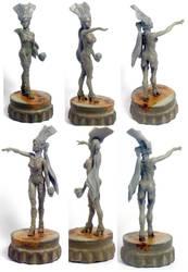 Dark elf warpainter sculpt by Revliss