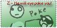Z will eye poke you stamp by DrToasty
