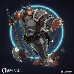 Crowfall Champion Poster by PerfectDork