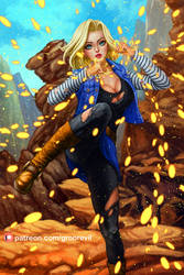 Android 18 by gronrevil