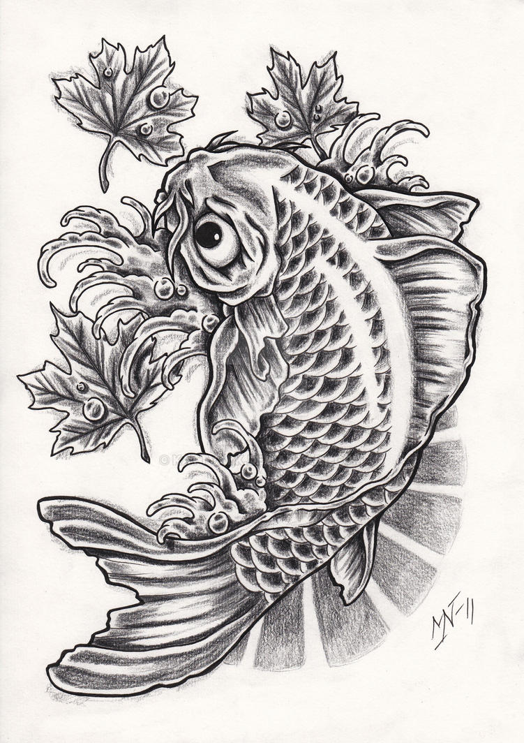50e46bd93ddc6 Koi fish tattoo design by Kattvalk on DeviantArt