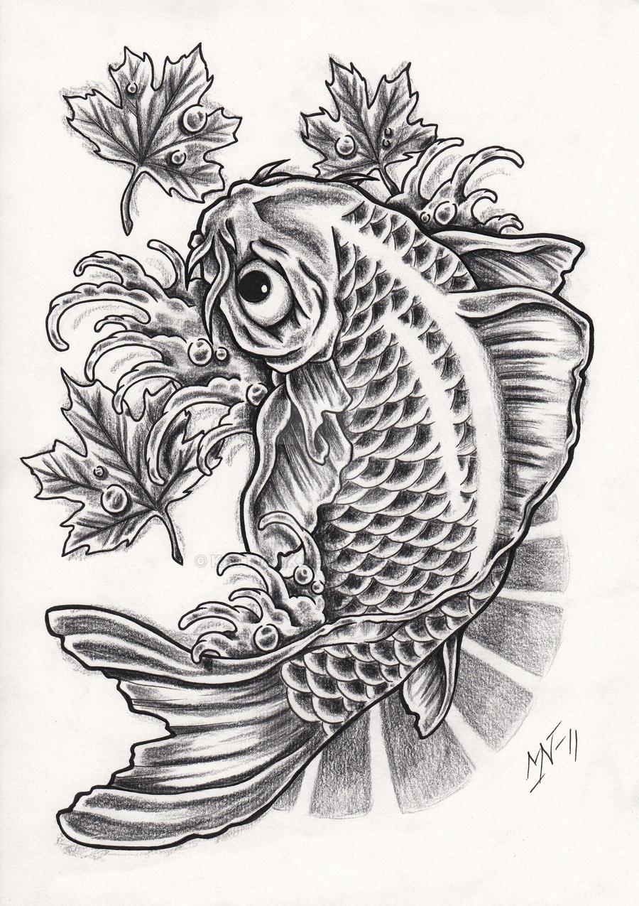 Koi fish tattoo design by Kattvalk