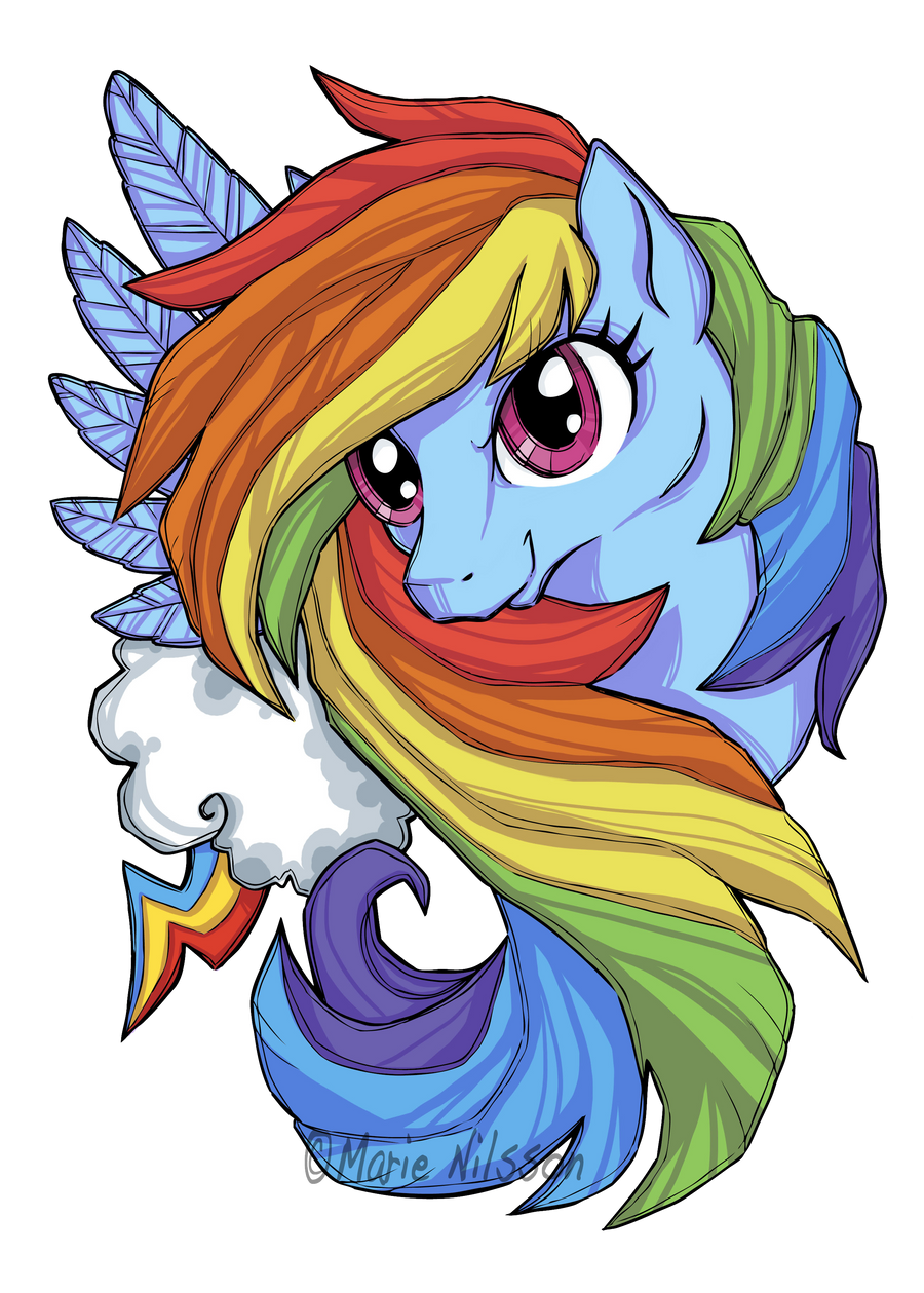 Rainbow dash t shirt print contest by kattvalk