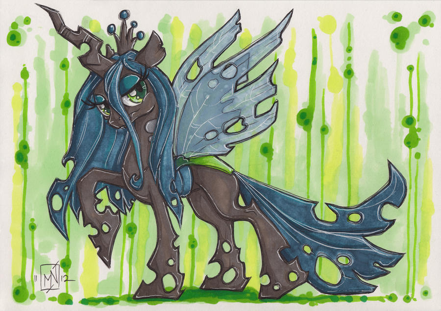 Queen chrysalis by kattvalk on deviantart for Queen chrysalis coloring pages