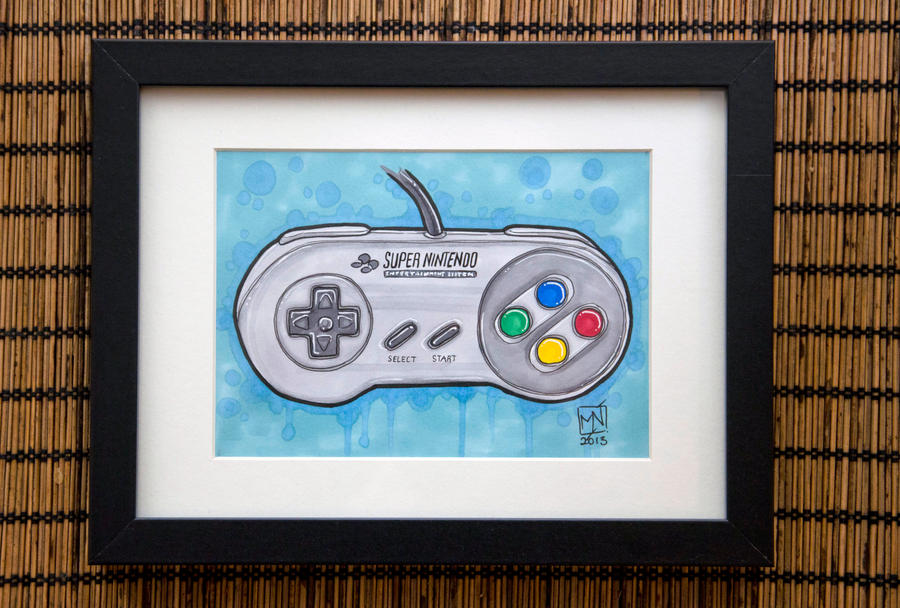 SNES controller by Kattvalk