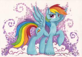 Commission - Rainbow Dash by Kattvalk