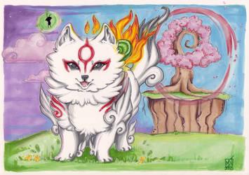 Okami Amaterasu fan art by Kattvalk