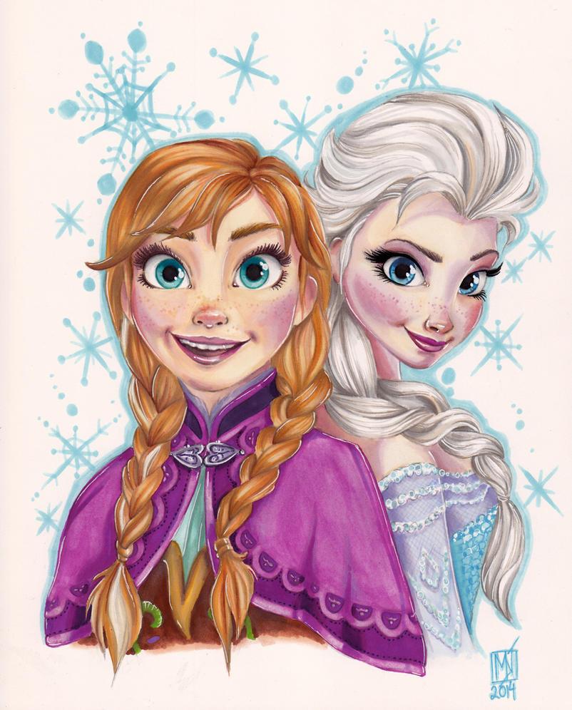 anna and elsa frozen by kattvalk on deviantart