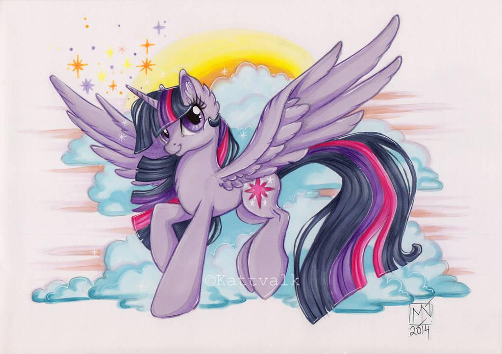 Princess Twilight Sparkle by Kattvalk
