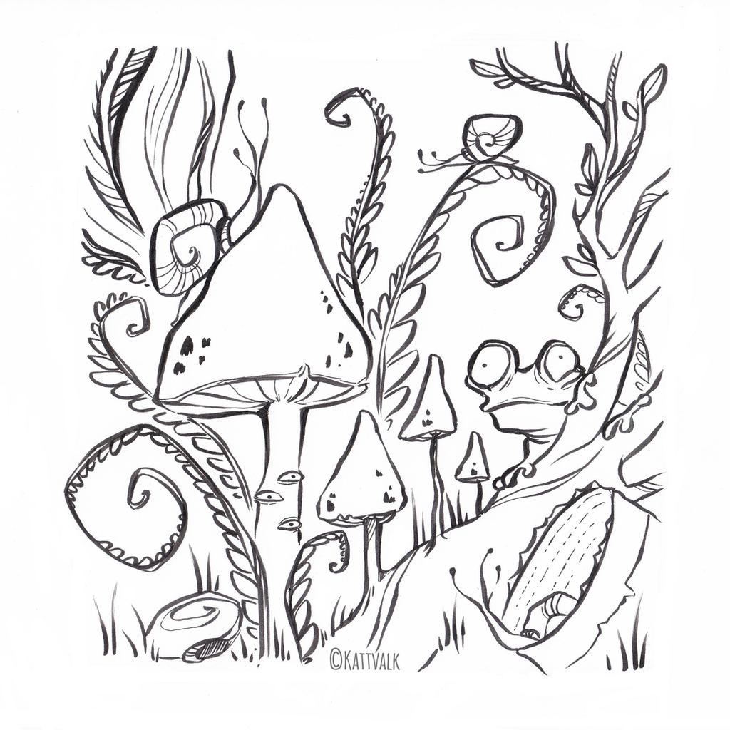 stranger worlds free coloring page by kattvalk on deviantart