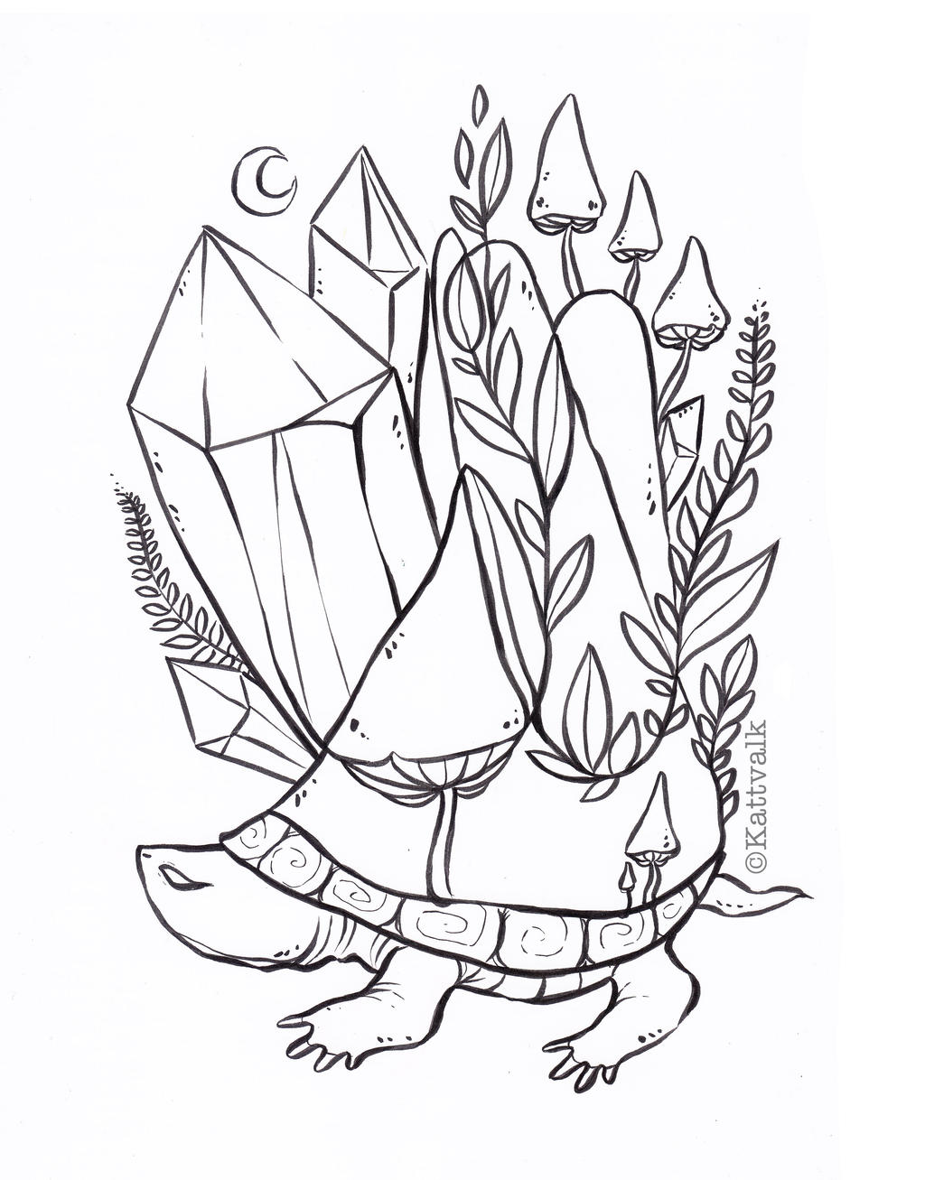 crystal turtle free coloring page by kattvalk on deviantart