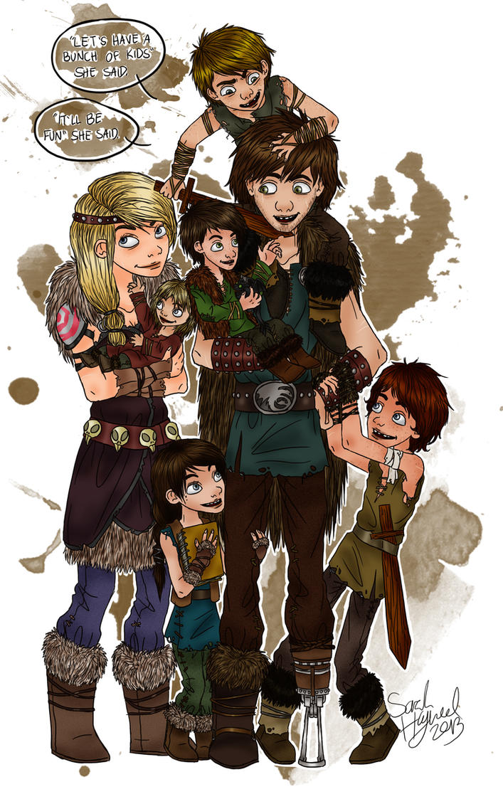 How To Train Your Dragon 2 Astrid And Hiccup Kissing The Haddocks By  Sarahthewhat