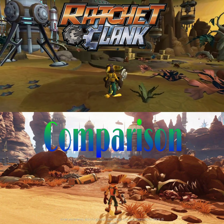Ratchet and Clank (Graphic comparison) by MOTLEYLOMBAXCRUE666