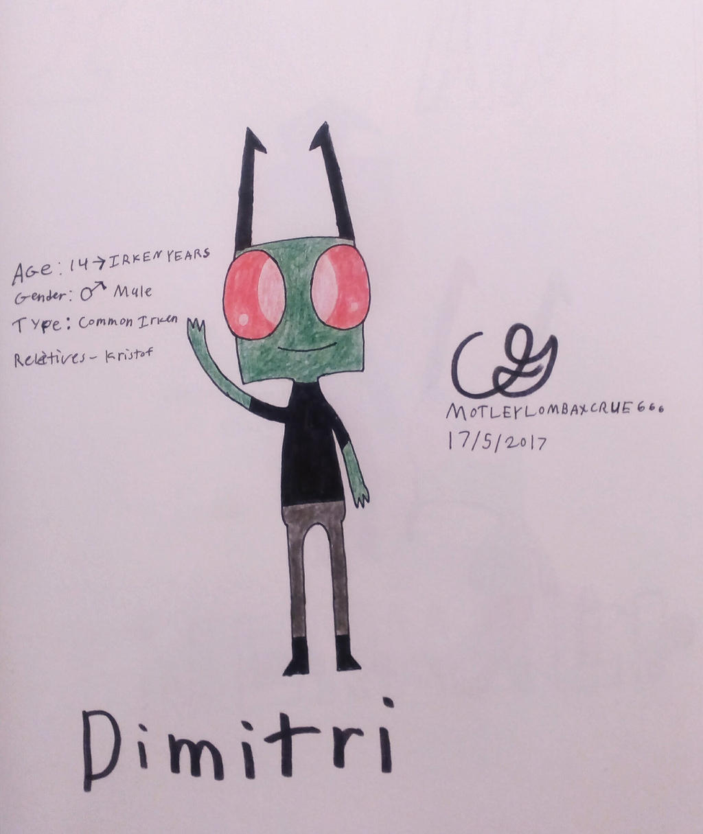 My new OC, Dimitri! by MOTLEYLOMBAXCRUE666