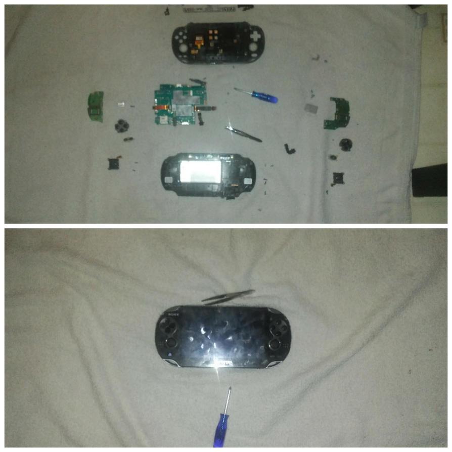 I took apart my vita, and put it back together! by MOTLEYLOMBAXCRUE666