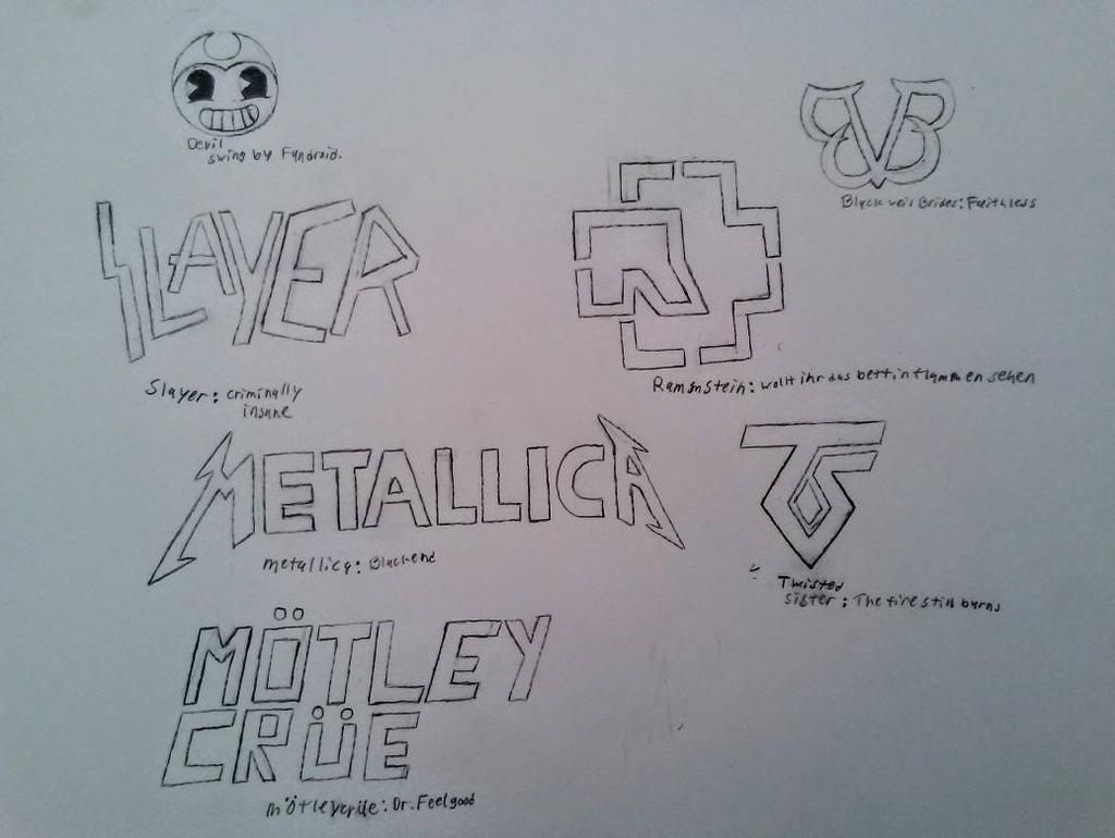 Band logos by MOTLEYLOMBAXCRUE666