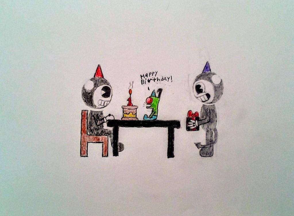 Happy 1st anniversary, Bendy!!! by MOTLEYLOMBAXCRUE666