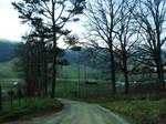 Gravel roads.