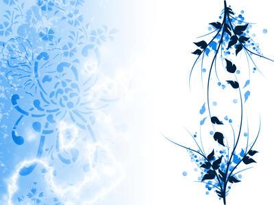 Blue-White Wallpaper by nivener