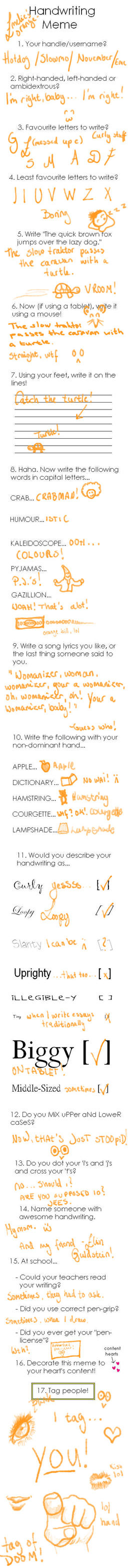 Handwriting Meme by XNovember