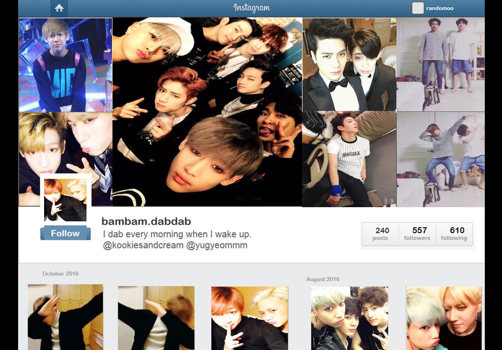 GOT7 BamBam Instagram Profile by no-jams-jimin on DeviantArt