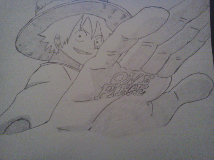 One Piece Lineart : One piece luffy lineart and shading by cam san on deviantart