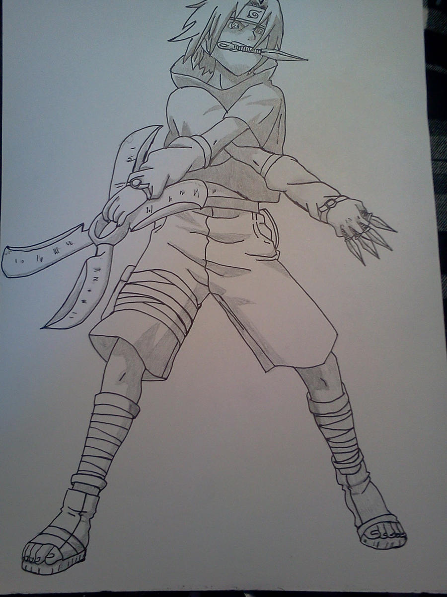 Sasuke: Weapon Style - Lineart and Shading by Cam-san on ...