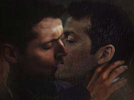 Destiel Kiss-oil painting filter by Scifiangel